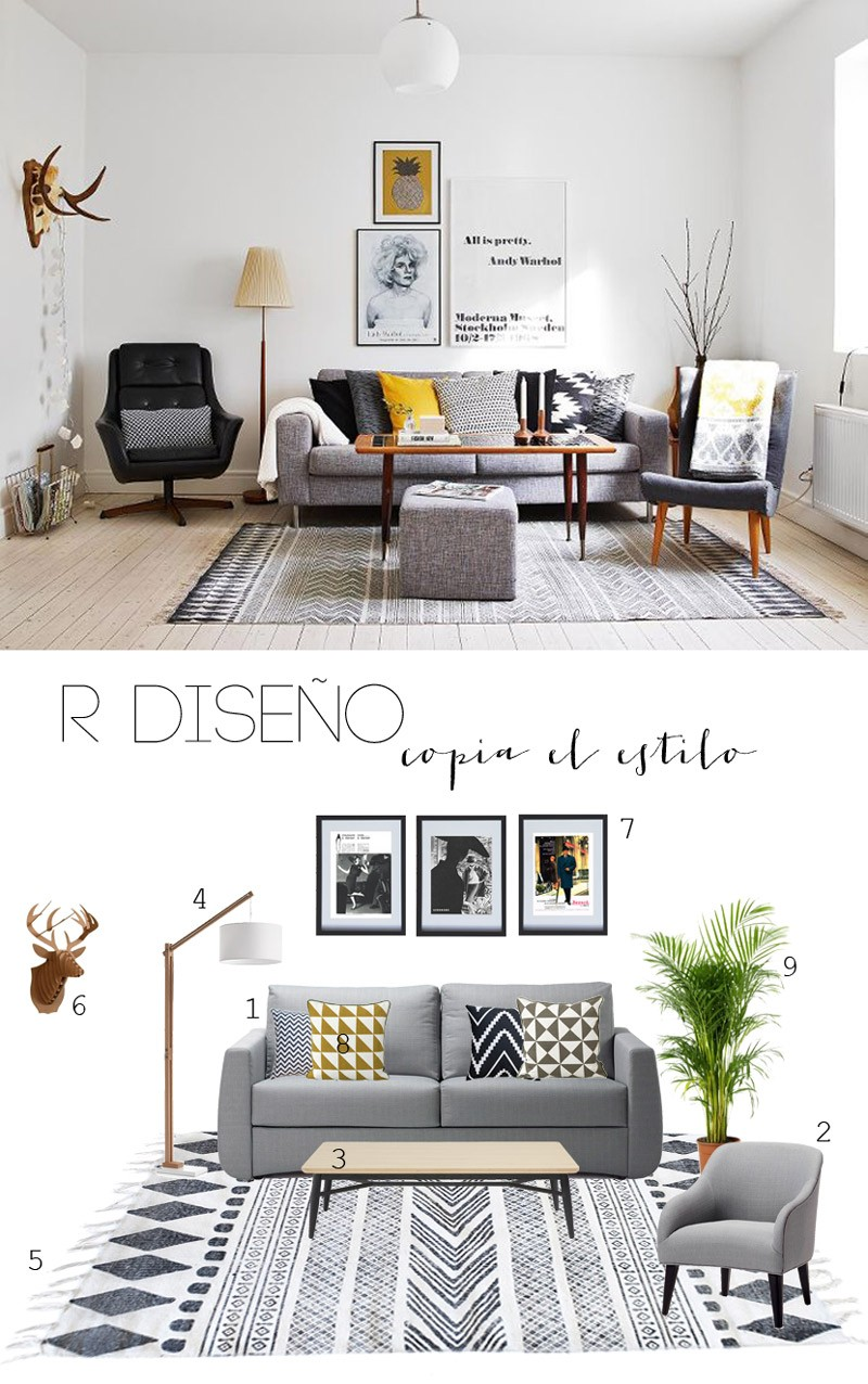 R de Room INTERIORISMO MADRID BLOG copia el estilo salón nórdico