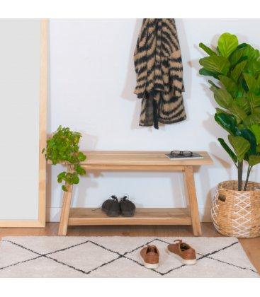 Banco de madera maciza de teca NOHO