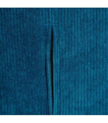 Pack de 2 sillas tapizadas en azul y patas doradas CORD