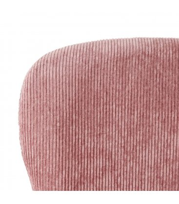 Pack de 2 sillas tapizadas en rosa y patas doradas CORD