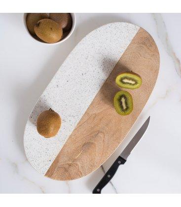 Tabla de cortar de granito y madera de mango MARBLE 20x40cm