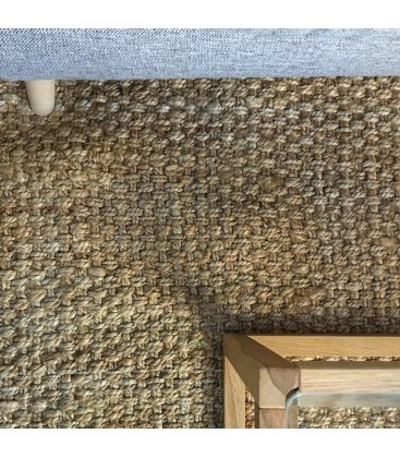 Alfombra rectangular de yute trenzado en color natural 160x230cm