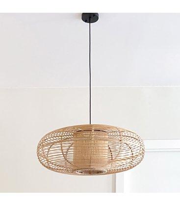 Lámpara de techo escultórica de bambú FLAT