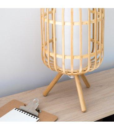 Lámpara de sobremesa de bambú natural BEPA N01