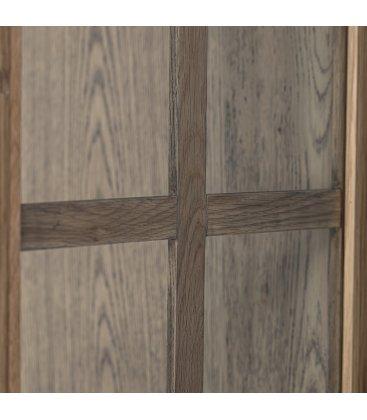 Vitrina de madera de roble y cuarterones de vidrio ANGEL