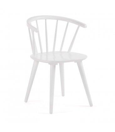 Pack de 2 sillas de madera con reposabrazos en color blanco KIRK