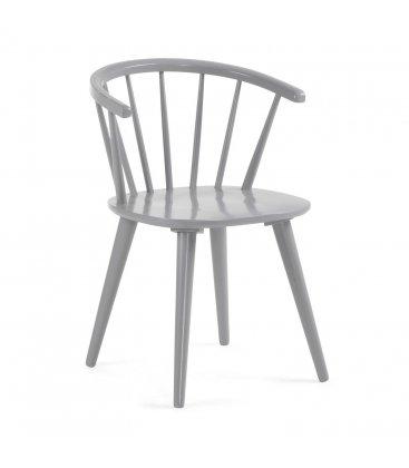 Pack de 2 sillas de madera con reposabrazos en color gris KIRK