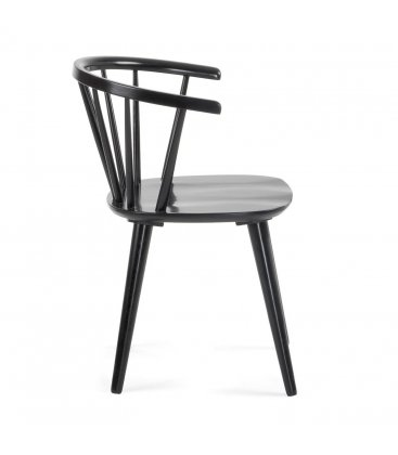 Pack de 2 sillas de madera con reposabrazos en color negro KIRK