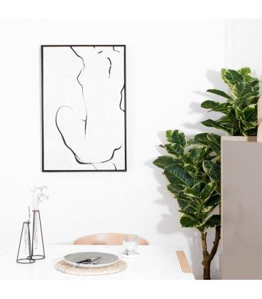 Cuadro blanco y negro EGE N02 62,5x92,5cm