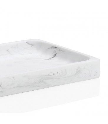 Bandeja rectangular efecto mármol YIMPA