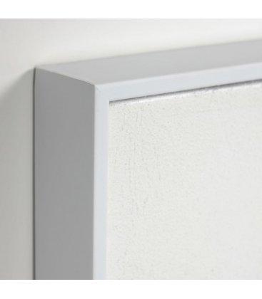Cuadro abstracto blanco con relieve QANA N02 32x42cm