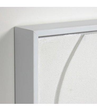 Cuadro abstracto blanco con relieve QANA N03 32x42cm