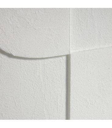 Cuadro abstracto blanco con relieve QANA N04 32x42cm