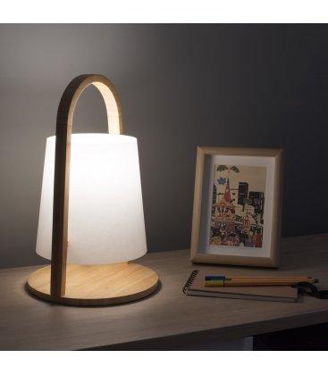 Lámpara de sobremesa de bambú OJANI