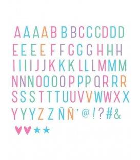 Kit de letras y símbolos en colores pastel