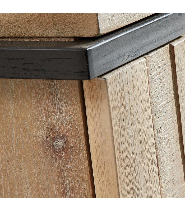 Mueble de tv de madera maciza y patas negras liz for Muebles de cocina de madera maciza