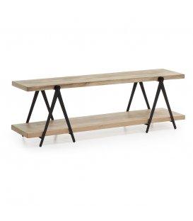 Más acerca de Mueble de TV con estructura metálica y baldas de madera PLATFORM