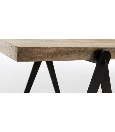 Mueble de TV con estructura metálica y  baldas de madera PLATFORM