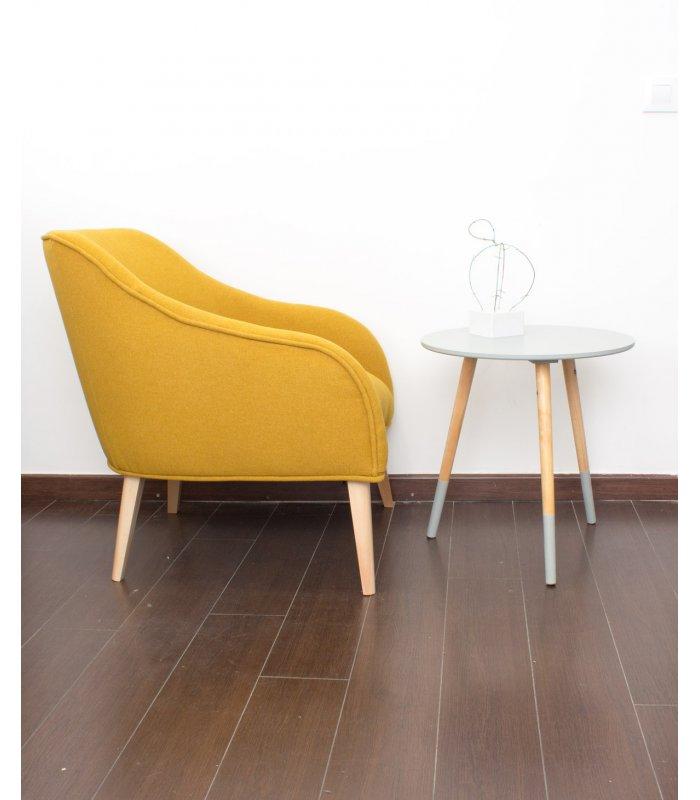 Sill n tapizado en mostaza - Sillon con palets de madera ...