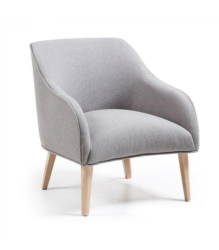 Sill n tapizado en gris claro for Sillon gris