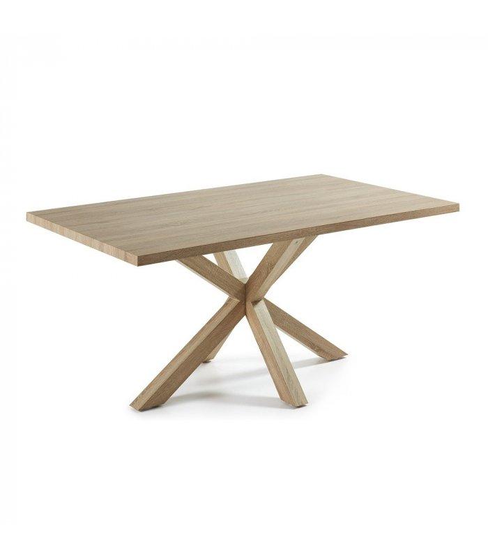 Mesa de comedor rectangular aire con patas y sobre de madera - Patas madera para mesas ...