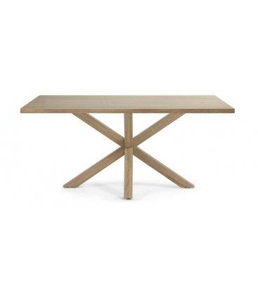 "Mesa de comedor rectangular ""AIRE"". Patas y sobre en chapado de madera natural"
