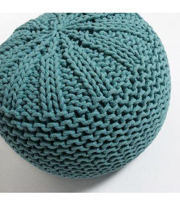 Puf de crochet turquesa CROCHET