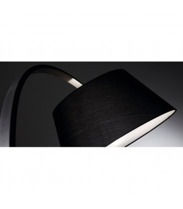Lámpara de pie negra con base de mármol BOW