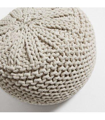 Puf de crochet beige CROCHET