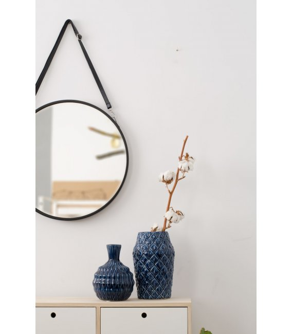 Espejo redondo negro arti for Espejos de madera redondos