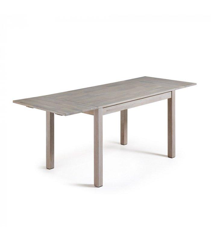 Mesa de comedor rectangular de roble macizo blanqueado dira for Mesa comedor roble macizo