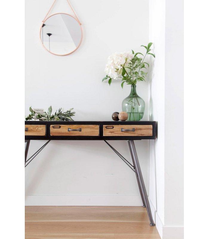 Consola de madera y metal de estilo industrial y vintage urban for Consola estilo industrial