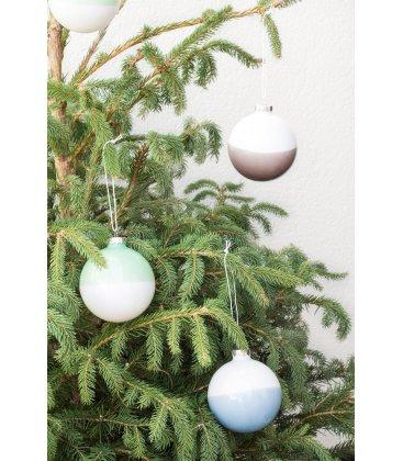 Set de 3 bolas de Navidad bicolor.