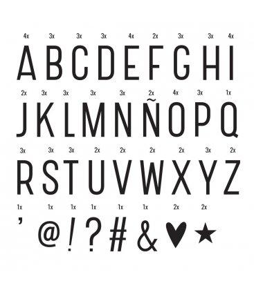 Kit básico de 85 letras y símbolos