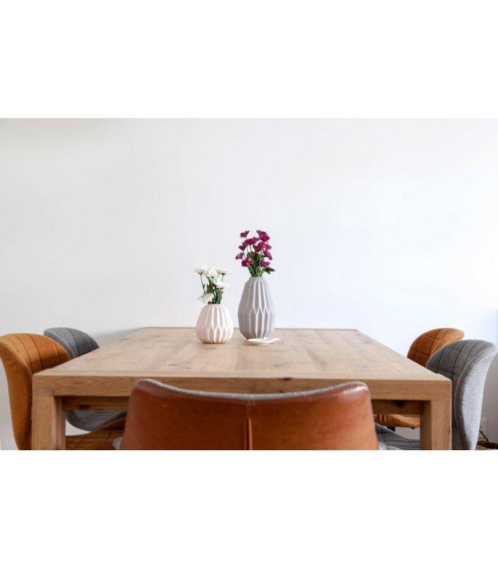 Mesa de comedor de madera de roble malmo - Mesas de madera extensibles comedor ...