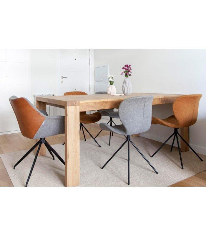 Mesa de comedor de madera de roble malmo - Mesa madera extensible comedor ...
