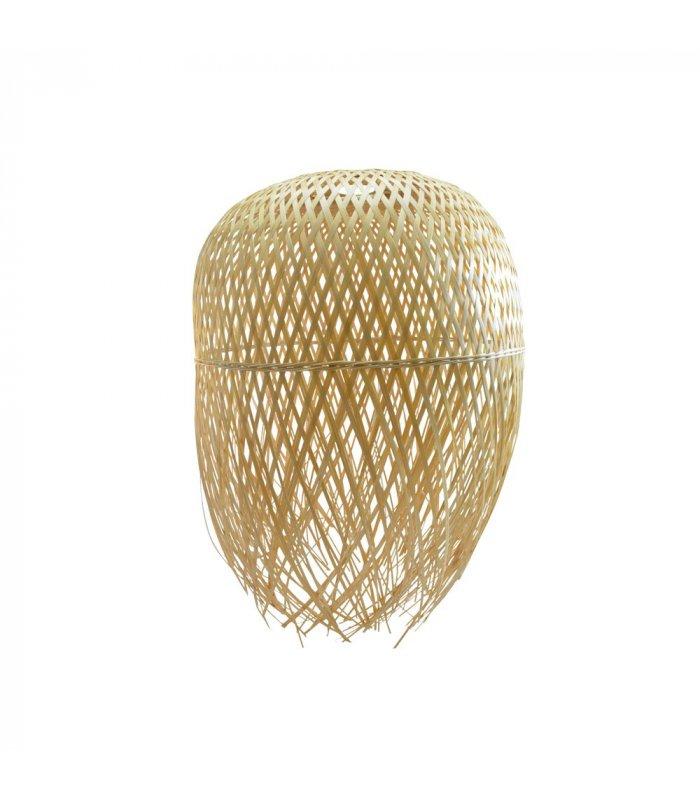 L mpara de techo de bamb trenzado nest for Lampara techo grande