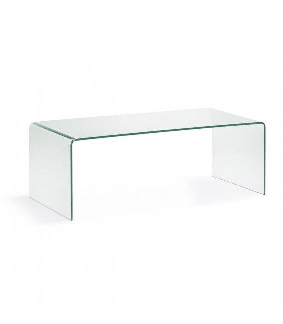 mesa de centro rectangular de vidrio templado glass