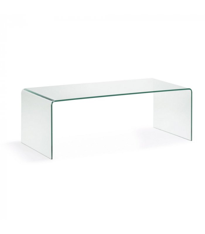 Mesa de centro rectangular de vidrio templado glass for Cristal para mesa rectangular