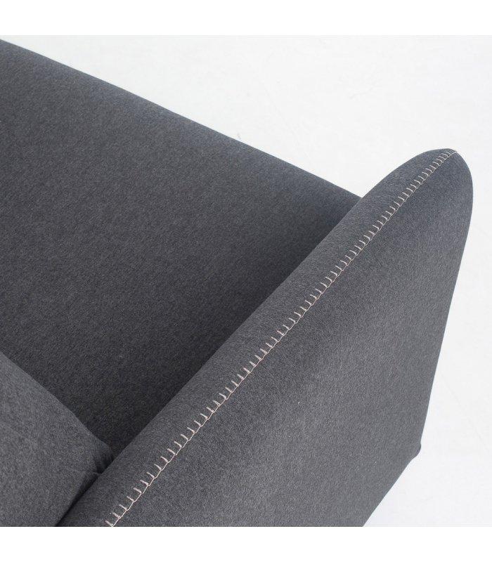 Sof cama desenfundable de 2 plazas tapizado en gris sun for Sofa cama 2 plazas precios
