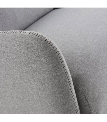 Sofá cama de 2 plazas tapizado en gris claro SUN