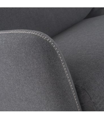 Sofá cama de 3 plazas tapizado en gris antracita SUN