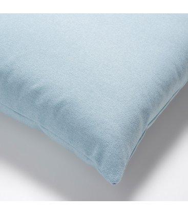 Cojín azul claro liso 45x45cm