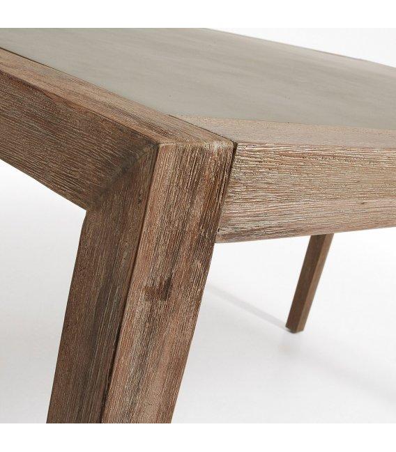 Mesa de jard n con estructura en madera de acacia y sobre - Mesa de madera para jardin ...