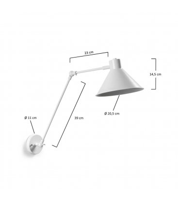 Aplique de lámpara dirigible color blanco mate INNE