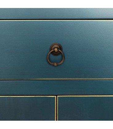 Consola pequeña azul petróleo de estilo asiático TIBET