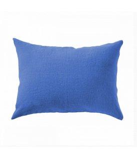Cojín liso 100% lino lavado de color azul LINO 35x50cm