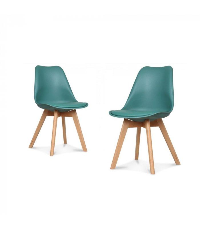 silla de comedor turquesa ally 2 unidades