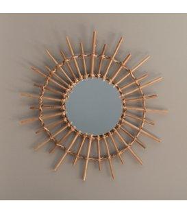 Espejo redondo de bambú NATURE 03