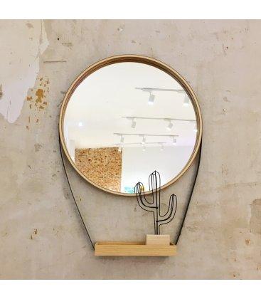 Espejo redondo con bandeja HELLO